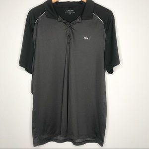 Calvin Klein Men's Black Geo Print Polo Shirt